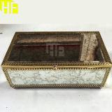 Ligne cosmétique au détail feuille de miroir d'antiquité/cadre bijou de miroir