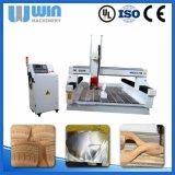 Tagliatrice acrilica di legno della superficie curva di CNC della gomma piuma di 4 assi