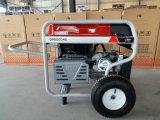 7.5kw 2X 큰 압축 공기를 넣은 바퀴 및 손잡이를 가진 먼 시작 휘발유 발전기