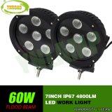 Lumière automatique de travail du CREE 7inch 60W Biack DEL pour la jeep