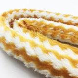 [1.8م] صفراء [ستريبد] فروة تصميم أكريليكيّ نارجيلة [شيشا] [هوس بيب] ([إس-هّ-006])