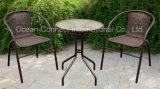 Cadeira & tabela do Rattan da mobília do jardim do lazer