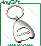 Métal Trolley Token Keyring avec Customized Logo