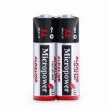 De Alkalische Batterij van uitstekende kwaliteit AA/Lr6 met de Verpakking van de Kaart van de Blaar