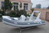 Liya 17ftの楽しみの小さく膨脹可能なガラス繊維の外皮の肋骨のボートのための最もよい販売の肋骨のボート