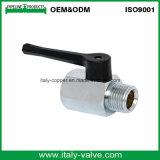 Válvula de bola de latón cromado forjado macho Mini (AV-MI-20011)
