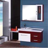 Vanité de salle de bains de mur en bois de chêne de qualité avec le Module latéral