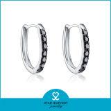 Boucles d'oreille venues neuves de cercle d'argent de mode grandes en stock (E-0204)