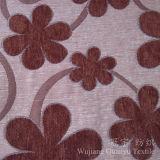 Tessuto tinto filato del Chenille della neve del fiore del jacquard per la casa