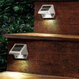 Luz impermeable al aire libre accionada solar de la seguridad del jardín de 4 LED