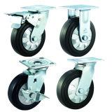 Leises elastisches Gummifußrollen-/Fußrollen-Rad