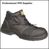 Zapatos de trabajo de acero de la seguridad de la punta y de la placa del cuero genuino