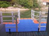 Muelle modular del barco el pontón de flotación