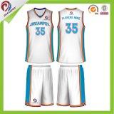 Projeto da camisola do basquetebol dos uniformes secos dos esportes do Sublimation da tintura do ajuste o melhor