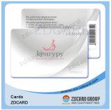 Изготовленный на заказ пластичная посещая карточка PVC Inkjet визитной карточки прозрачная