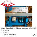 Línea recta de cristal máquina de 4 motores del ribete