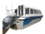 De Boot van de Passagier van de Cabine van de Glasvezel van Aqualand 28feet 8.6m/de Boot van de Motor van de Veerboot (860)