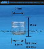 Tarro de cristal vendedor caliente de las salmueras para el almacenaje del alimento