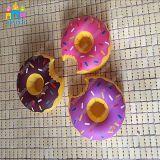 プールの浮遊物の膨脹可能なヤシの木のフラミンゴの傘ドーナツ飲み物のホールダー