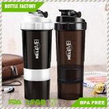 Zoll BPA geben Plastikprotein-Schüttel-Apparatflasche mit Armkreuz-Sprung frei