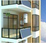 Verwarmer van het Water van het balkon de Zonne voor het Leven Gebied