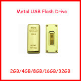 Disco do USB da barra de ouro de Pendrive Thumbdrive da movimentação do flash do USB do metal