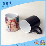 Taza cambiante del color negro de cerámica de la sublimación