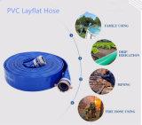 Irrigação plástica/exploração agrícola da água do PVC da luz/pressão média/resistente Using a tubulação da câmara de ar da mangueira de Layflat