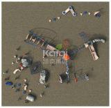 Kaiqi im Freien kletterndes Systems-Spiel mit Seil-Web und Playsets (KQ60135A)