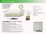 Nueva luz del panel del RGB LED de los diseños