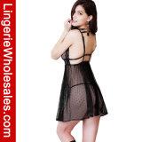 Женщины сексуальные видят до конца шнурок и поставленный точки комплект женское бельё Babydoll сетки