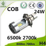 COB 24W H4 LED de luz de conducción de la motocicleta