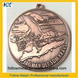 Médaille faite sur commande d'enjeu avec le cuivre antique et 21km en alliage de zinc