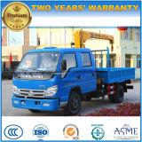 Cabine Forland d'équipage camion hydraulique de grue de 2 de T de camion roues de la grue 6