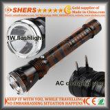 Nachladbare Taschenlampe der Leistungs-1W LED (SH-1918)