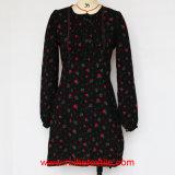 Longue robe tissée d'impression de douille par mode pour des dames
