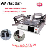 Microplaqueta pequena Mounter do baixo custo de Neoden3V, picareta de SMT e máquina de solda do lugar, 2 cabeças 44 alimentadores