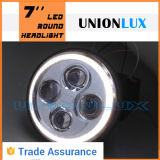 "7 "" LED Headlight SAE DOT ECE 7inch LED Round Head Light con DRL"