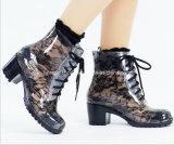 Ботинки шнурка способа High-Heeled