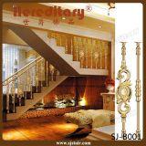Barandilla de aluminio de cobre amarillo antigua para el interior de la escalera (SJ-A015)