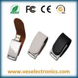 Bester USB-Blinken-Laufwerk-fördernder Geschenk-Flash-Speicher-heißer stempelnder Zeichen lederner USB-Steuerknüppel