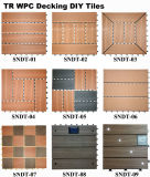 Fácil Instalado Interlocking WPC Decking Flooring DIY Tiles