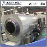 Cadena de producción plástica del tubo del PE/máquina plástica de la protuberancia del tubo de gas del HDPE