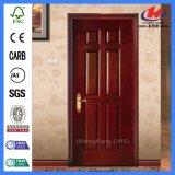 Прокатанная твердым дверь сердечника деревянным HDF отлитая в форму Veneer (JHK-006)