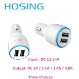2.1A удваивают USB в переходнике заряжателя автомобиля USB пользы автомобиля