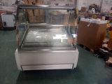 Congelador do gelado/caso indicador de Gelato