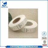 Escritura de la etiqueta de nylon de la etiqueta engomada de la ropa lavable de la impresión