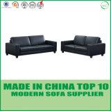 Zeitgenössisches modernes echtes Leder-Büro-Sofa-Set