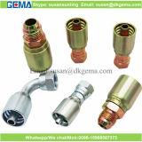 炭素鋼の油圧一つのホースフィッティングの亜鉛によってめっきされる管付属品