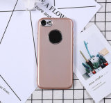 iPhone7のための鈍いポーランド人TPUの電話箱に吹きかける金属のペンキ